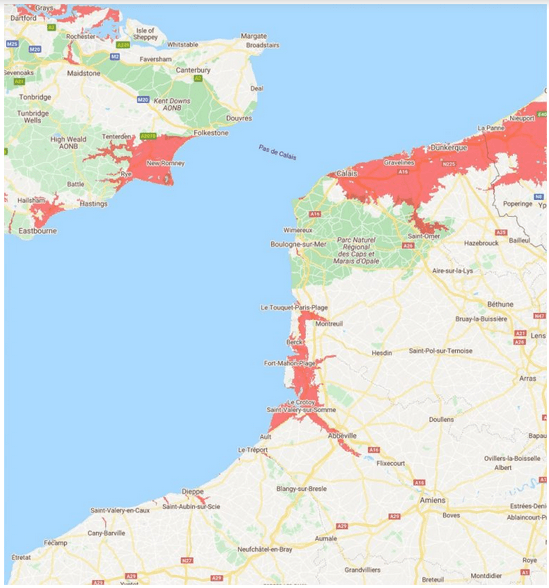 Montée des eaux, France